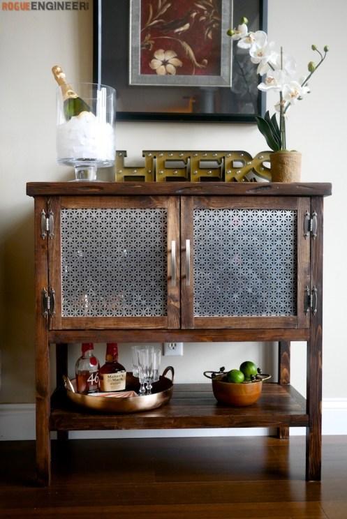 DIY Bar Cabinet Plans - Rogue Engineer 2