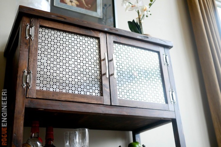 DIY Bar Cabinet Plans - Rogue Engineer 4