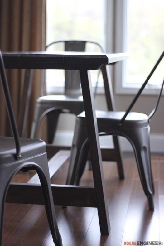 Compound Leg DIY Dining Table Plans - Rogue Engineer 4