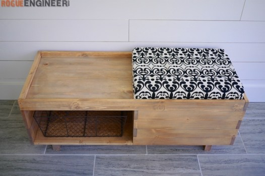 DIY Storage Bench Plans - Rogue Engineer 3