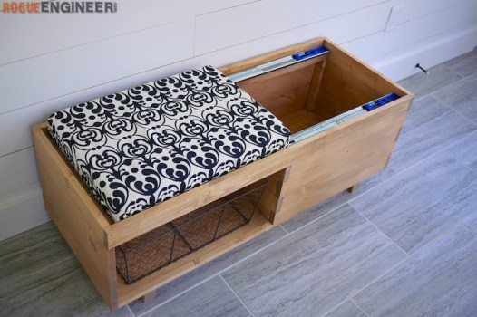 DIY Storage Bench Plans - Rogue Engineer 5