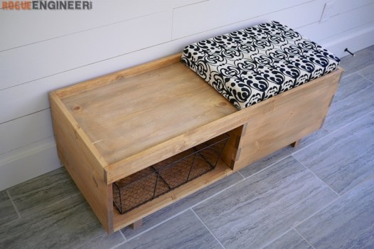 DIY Storage Bench Plans - Rogue Engineer 6