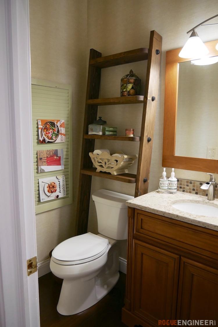 Leaning Bathroom Shelf Rogue Engineer