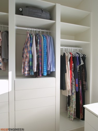DIY Master Closet Plans Rogue Engineer 6