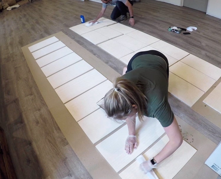 installing large format wall tile