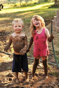 kids in dirt