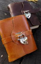 Silver Heart Locking Journal