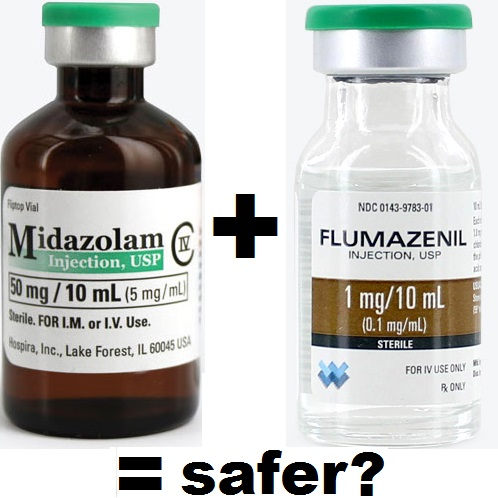 midazolam plus flumazenil = safer qm 2