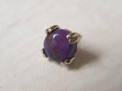 Purple Copper Turquoise Prong-Set Cabochon