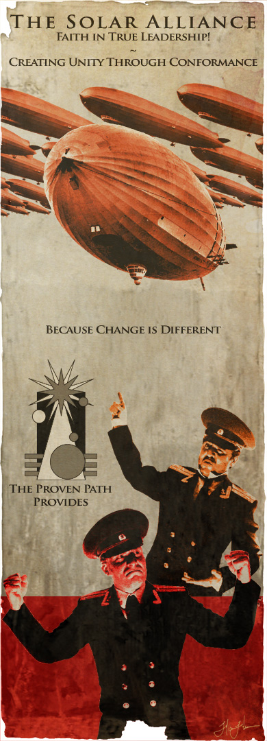 Mock Propaganda Poster: Photo Illustration, Graphic Design