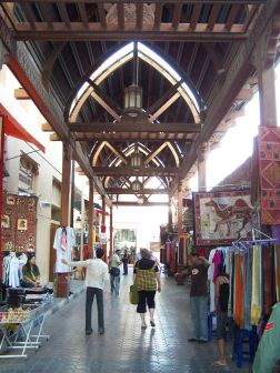 Old World souks are in direct contrast to the ultra modern city of Dubai.