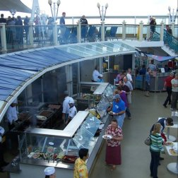 Cruising tips for beginners - watch the buffets you will find on board a cruise ship.