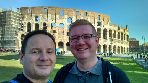 Roguetrippers visit the Colosseum in Rome, Italy on excursion from the Norwegian Cruise line