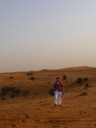 The Dubai desert is so vast, and yet so beautiful as well.
