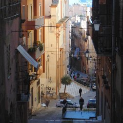 The City of Cagliari Sardinia is very mountainous and the streets can be difficult to walk for some people