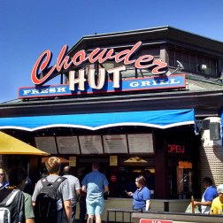 The Chowder Hut in Fisherman's Wharf is where Roguetrippers got some seafood chowder when we visited in July 2016.