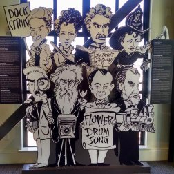 This display shows many of the famous San Franciscans throughout history.