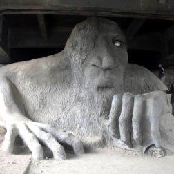The Fremont bridge troll is one of the most visited offbeat attractions and one that Roguetrippers had to fit into our short visit.