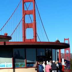 Visit the Golden Gate Bridge visitors centre to learn more about the history of the famous iconic San Francisco structure..