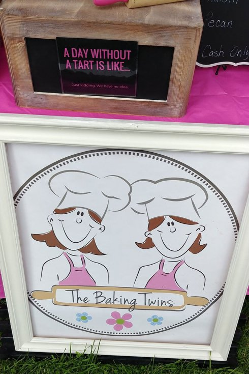 The Baking Twins booth at the Great Canadian Butter Tart Festival in Paris Ontario.