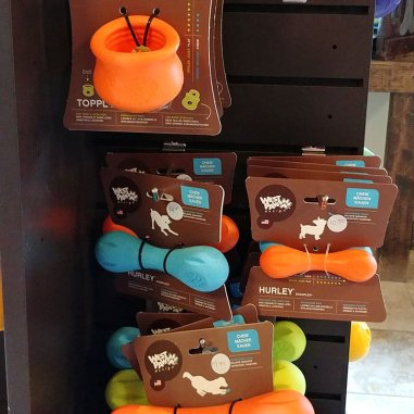 Roguetrippers bring a variety of dog toys on Road trips with the dogs to ensure they are active and have fun.