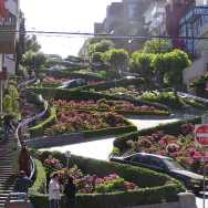 Roguetrippers visited Lombard Street - crookedest street in the world.