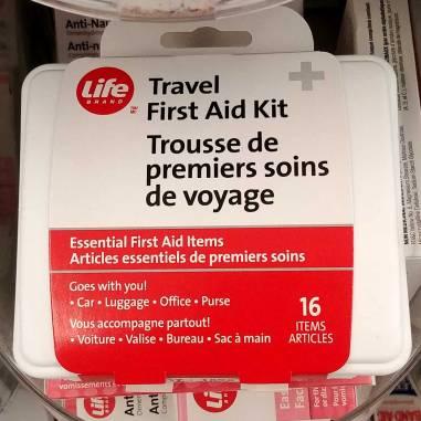 Travel health and wellness kit