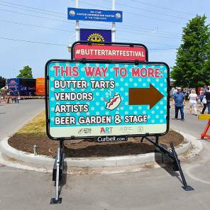 Roguetrippers visit buttertart festival in Midland in 2018