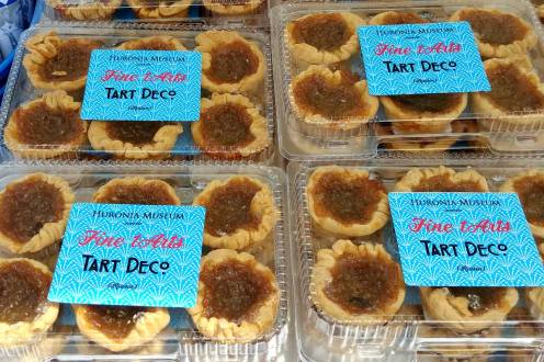 So many tempting butter tarts at butter Tart festival in Midland