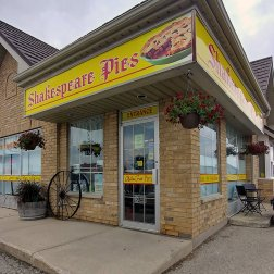 Shakespeare Pies is a great place to visit on your way to Stratford Festival