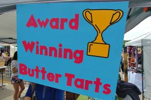 award winning buttertarts at the festival in Midland