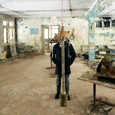 Gas Mask in Pripyat