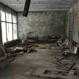 The hospital at Pripyat is a place where many urban explorers have visited.
