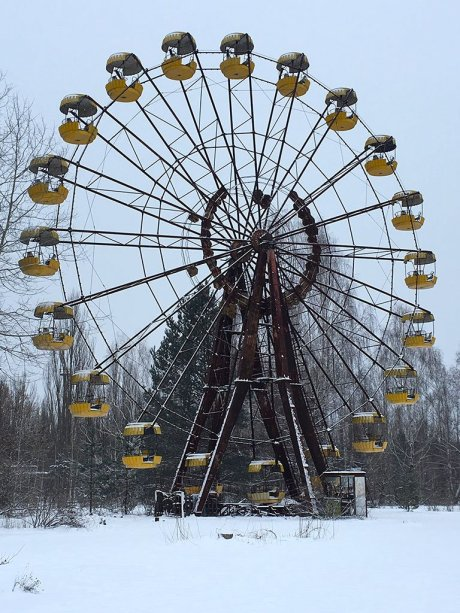 Many Urban explorers have visited the iconic Ferris wheel at the Pripyat and Chernobyl Exclusion zone