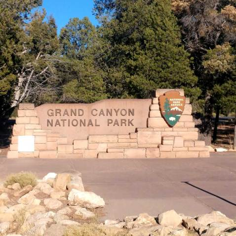 Grand Canyon National Park Entrance Sign