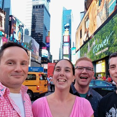 Roguetrippers visit New York City Times Square