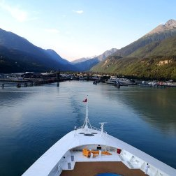 Disney Wonder enters the port in Alaska