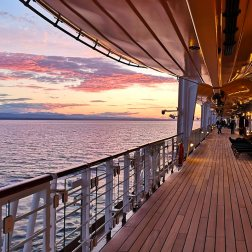 Roguetrippers Jason and Stacy enjoyed a romantic evening on deck of the Disney Wonder Cruise.