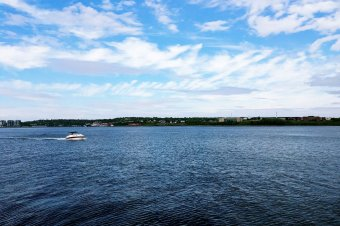 the view from the Halifax Waterfront