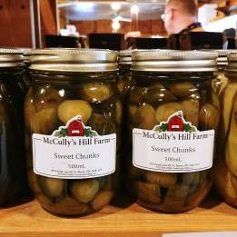 Delicious pickles at McCullys Hill Farm Perth County Tourism