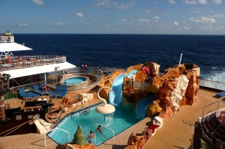 Pool time alone reason to stay aboard cruise ship