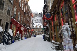 Winter is so pretty in Vieux Quebec during Carnaval
