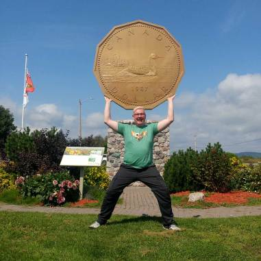 Roguetrippers love visiting Roadside attractions like the Big Loonie Monument