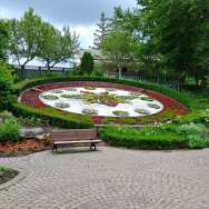 Riverside Park has a giant floral clock and beautiful gardens.