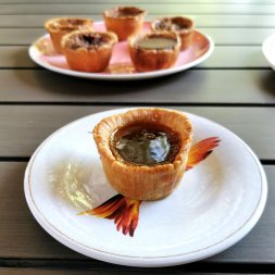 Roguetrippers enjoy San Agostino's salted Caramel butter tarts