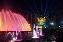 The magical Montjuic Fountain is a site to behold especially at night. This is a roguetrippers highlight in Barcelona