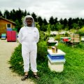 Visit Perth County and enjoy agricultural experiences. like bee keeping at Huckleberry Hive
