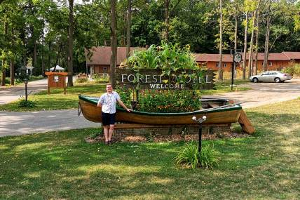 Nicholas Kulnies Welcome to the forest Motel in Stratford.
