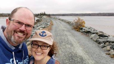 Stacy and Jason enjoying the East Coast Lifestyle and all the amazing hiking trails around Halifax Nova Scotia