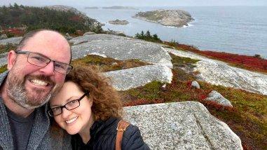 Jason & Stacy enjoy the Halifax area Hiking trails